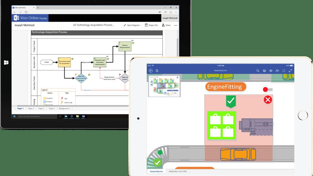 Web-Ausgabe und iPad-App für Microsofts Visio