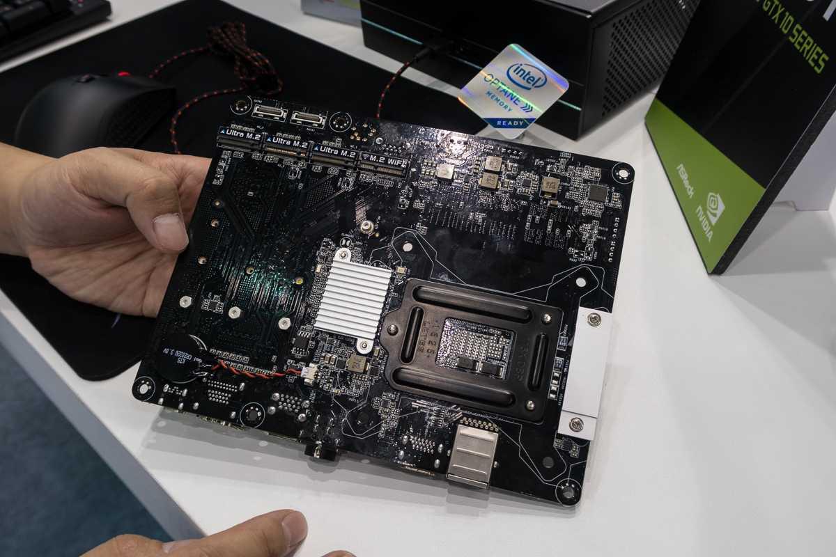 Micro-STX-Board nehmen MXM-Grafikkarten auf, sind aber dennoch kompakt.
