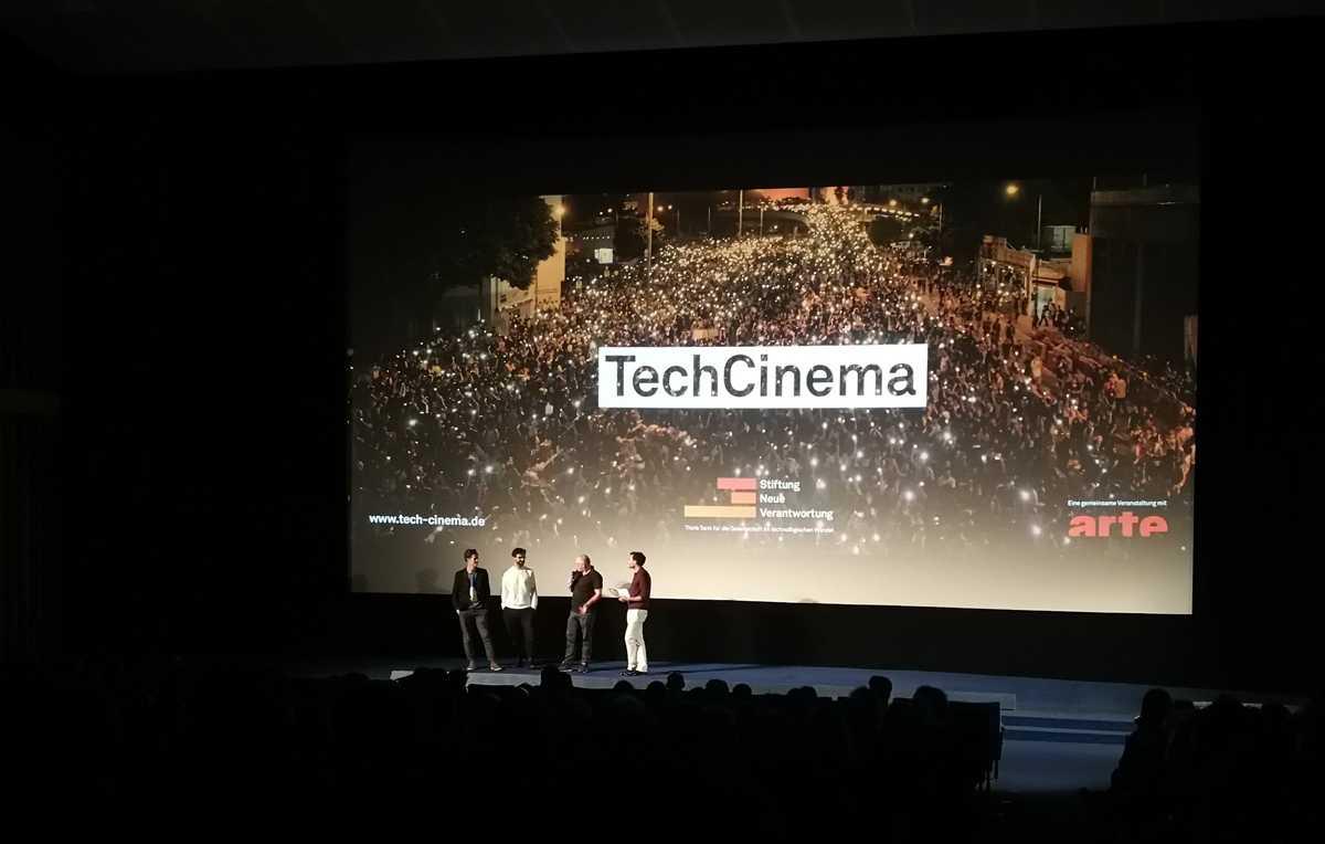 Die Regisseure und Produzenten bei der Deutschlandpremiere im Berliner Kino International.