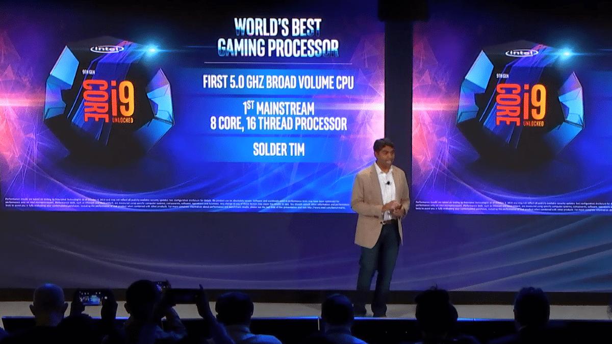 Intel Core i9-9900K mit 8 Kernen und 5 GHz für Gamer