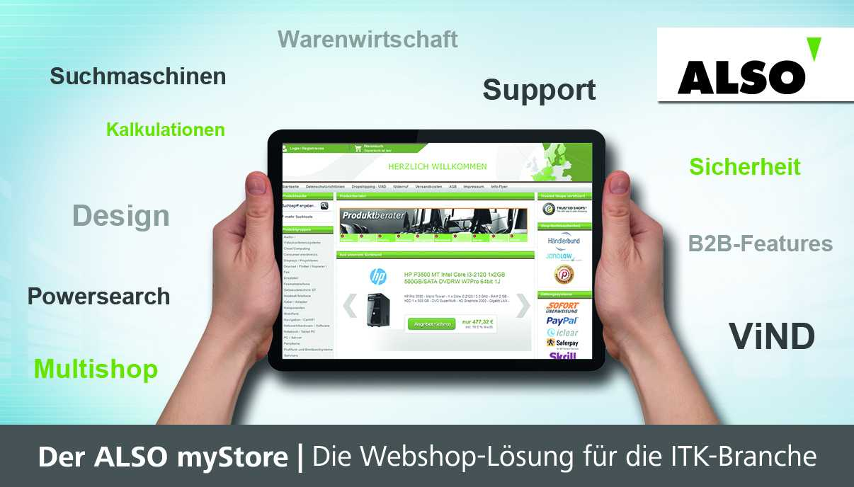 Den neuen myStore von Also gibt es in drei verschiedenen Varianten.