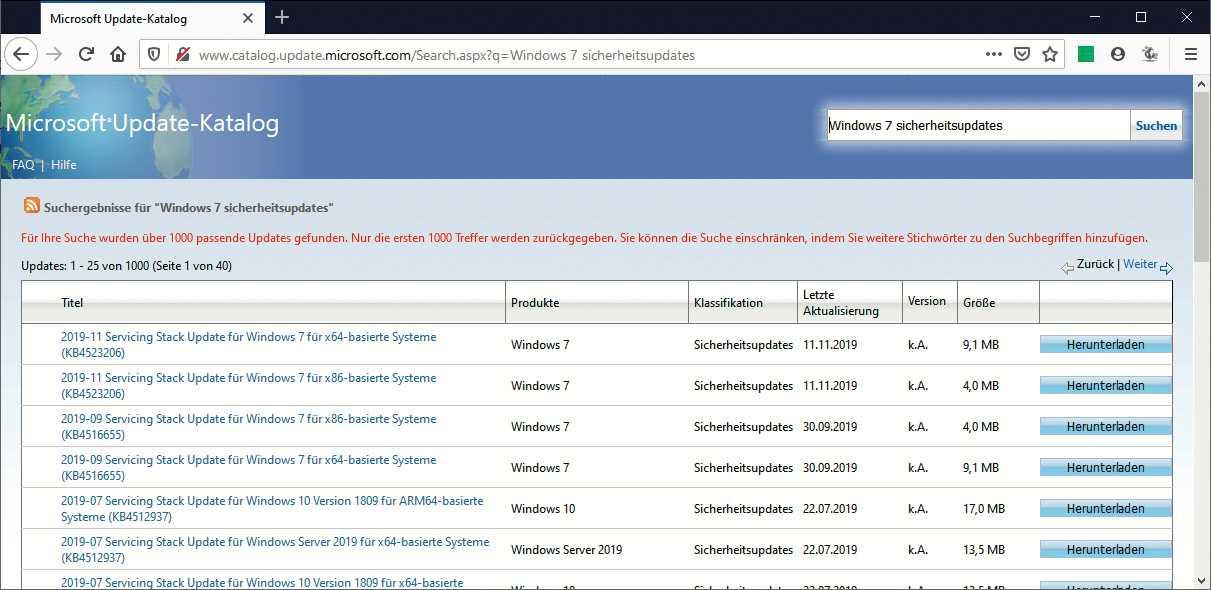 Es wird zwar keine neuen Sicherheits-Updates für Windows 7 geben, die bereits veröffentlichten dürften aber bis auf Weiteres verfügbar bleiben.