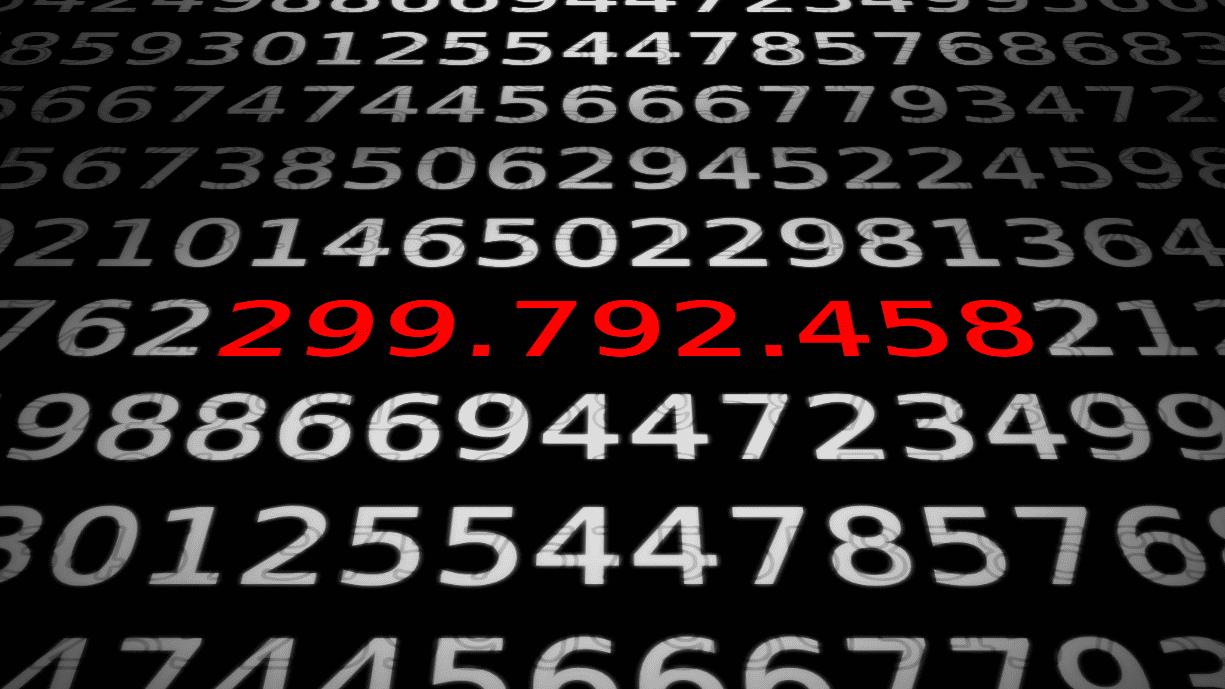 Zahlen, bitte! 299.792.458 m/s als maßgebende Lichtgeschwindigkeit