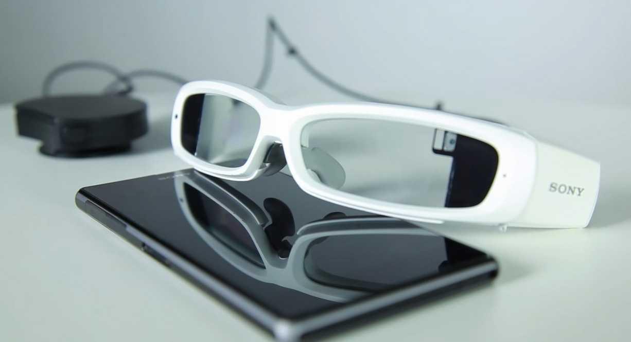 Sonys Datenbrille Smart EyeGlass hat für jedes Auge ein monochromes Display.
