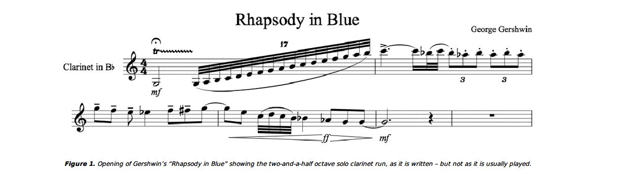 """Die Eingangssequenz der """"Rhapsody in Blue"""""""