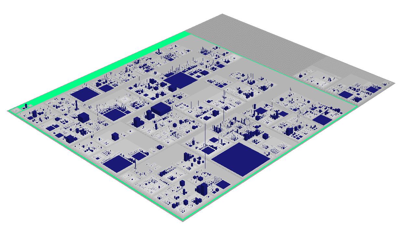 WildFly 8 Source Code als Stadt visualisiert