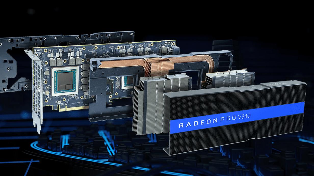 Radeon Pro V340: 7168 GPU-Kerne für bis zu 32 Nutzer