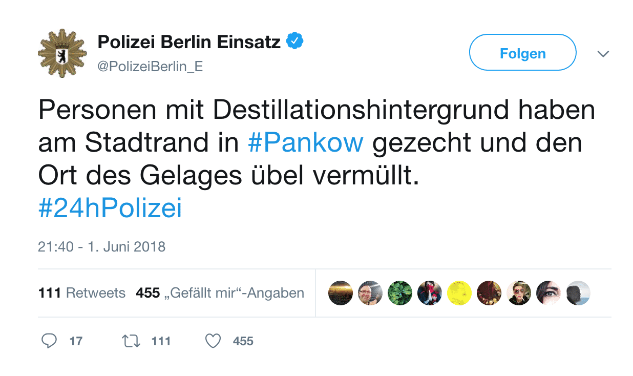 Twitter / Polizei Berlin