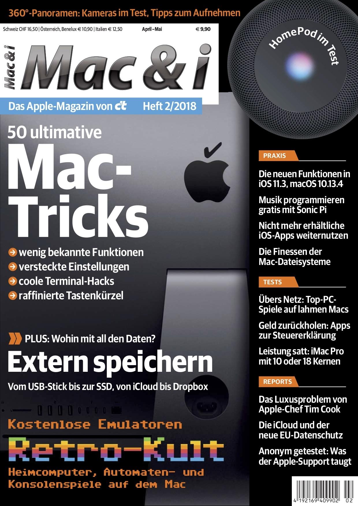 Mac & i Heft 2/2018: Titelbild …