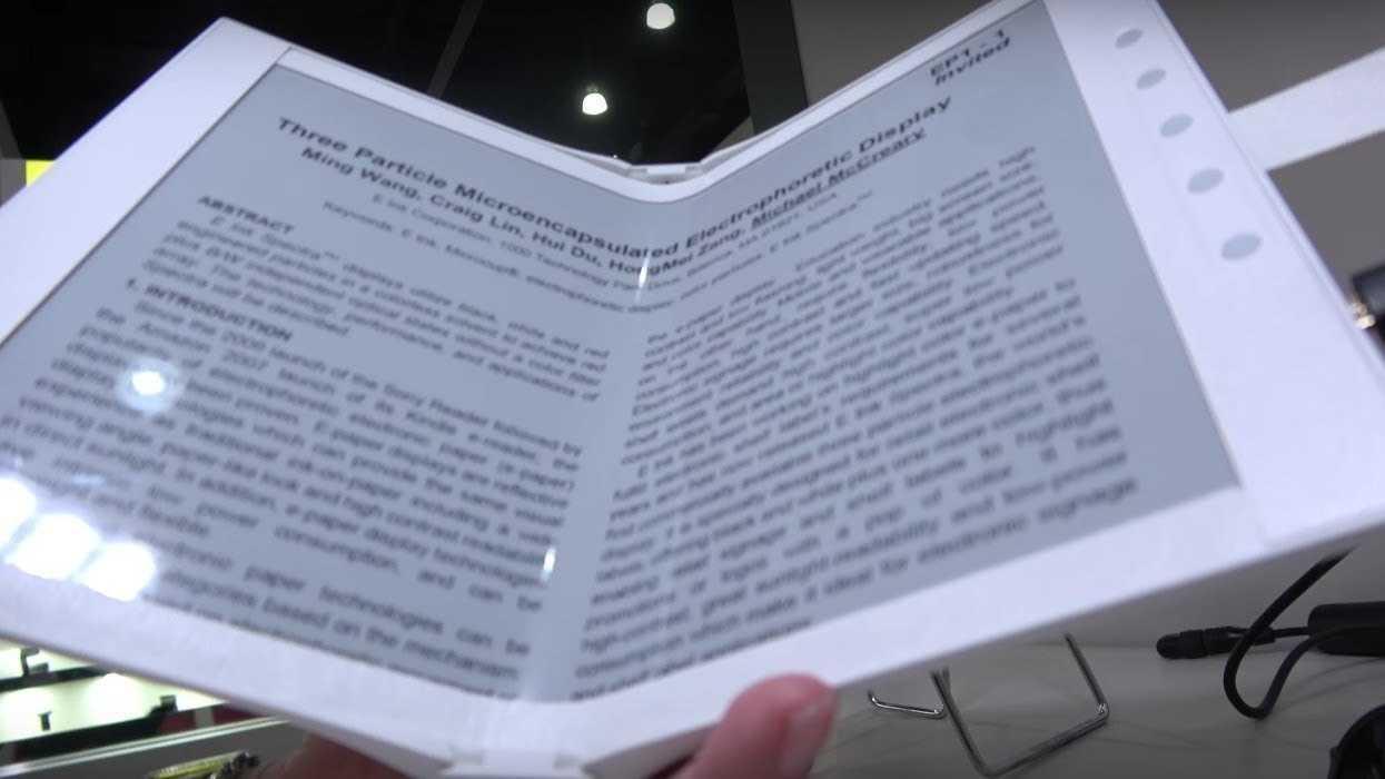 E-Ink zeigt faltbaren E-Reader