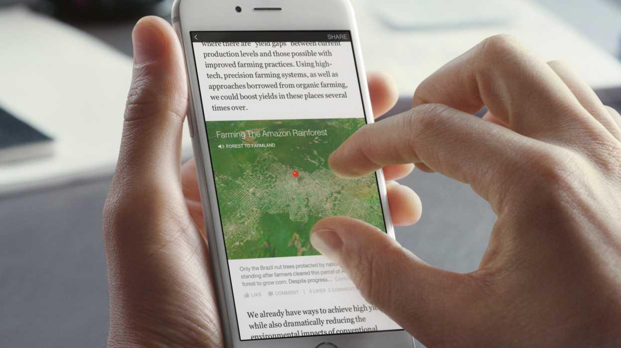 """""""Instant Articles"""" soll die Wartezeit auf dem Smartphone verkürzen."""