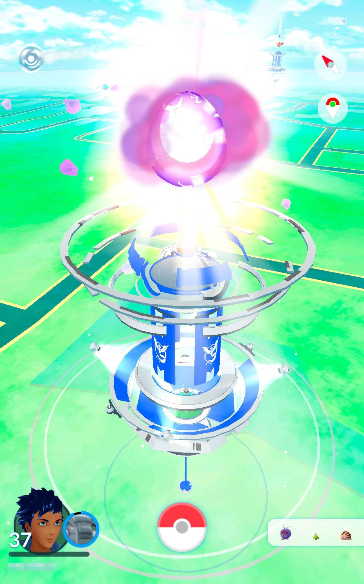 Ein Raid-Ei explodiert.