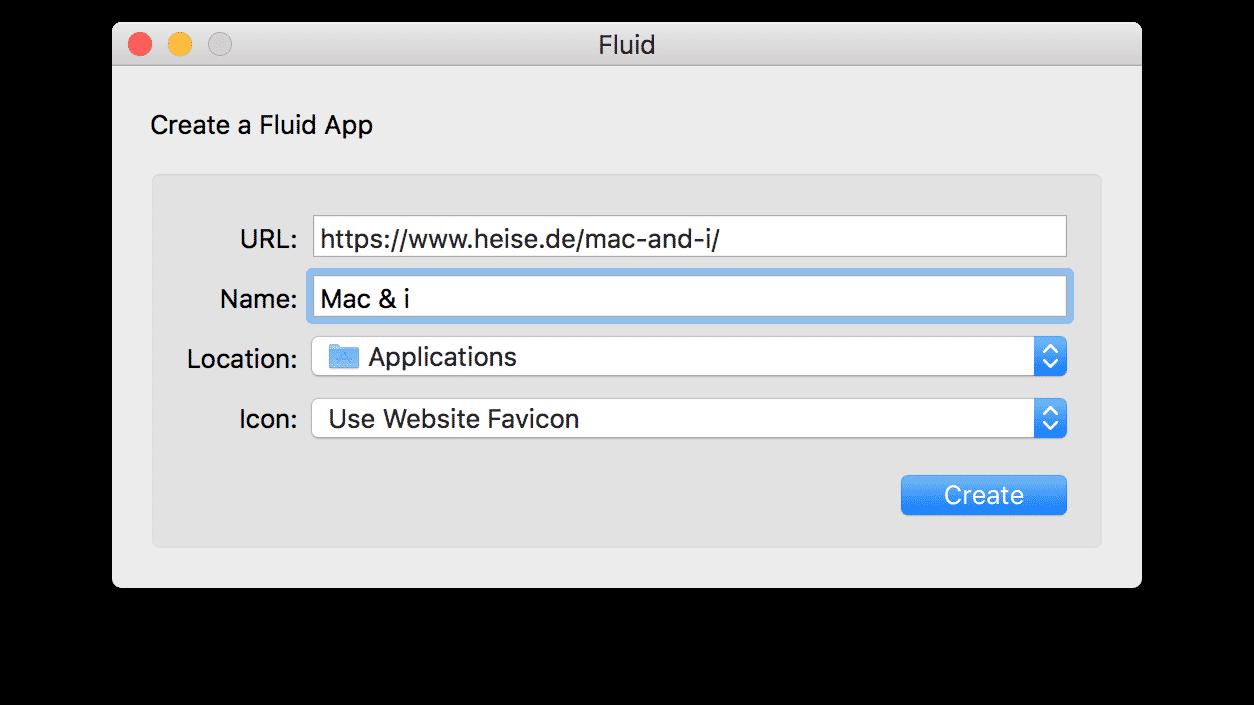 Site-specific Browser für den Mac: Fluid aufgebohrt