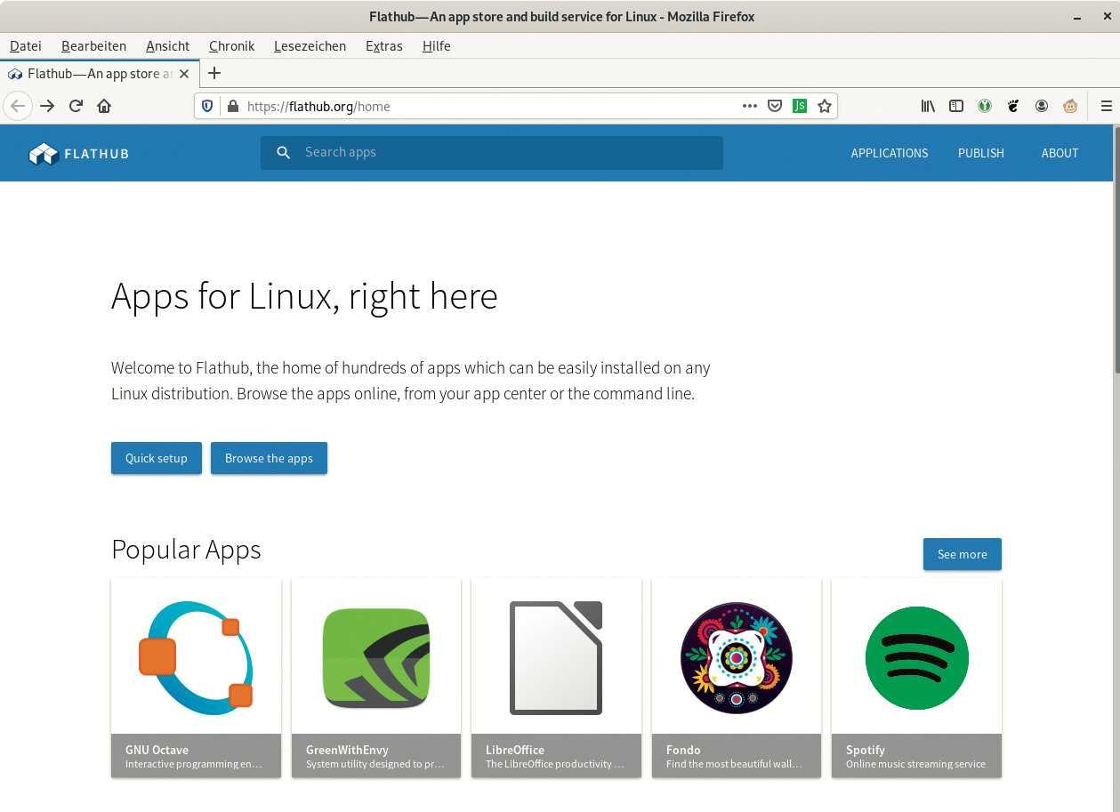 In App-Stores wie Flathub bekommen Linux-Anwender neben freier Software auch proprietäre Programme wie Spotify.