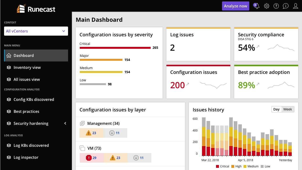 Runecast 2.0: VMware im Blick behalten