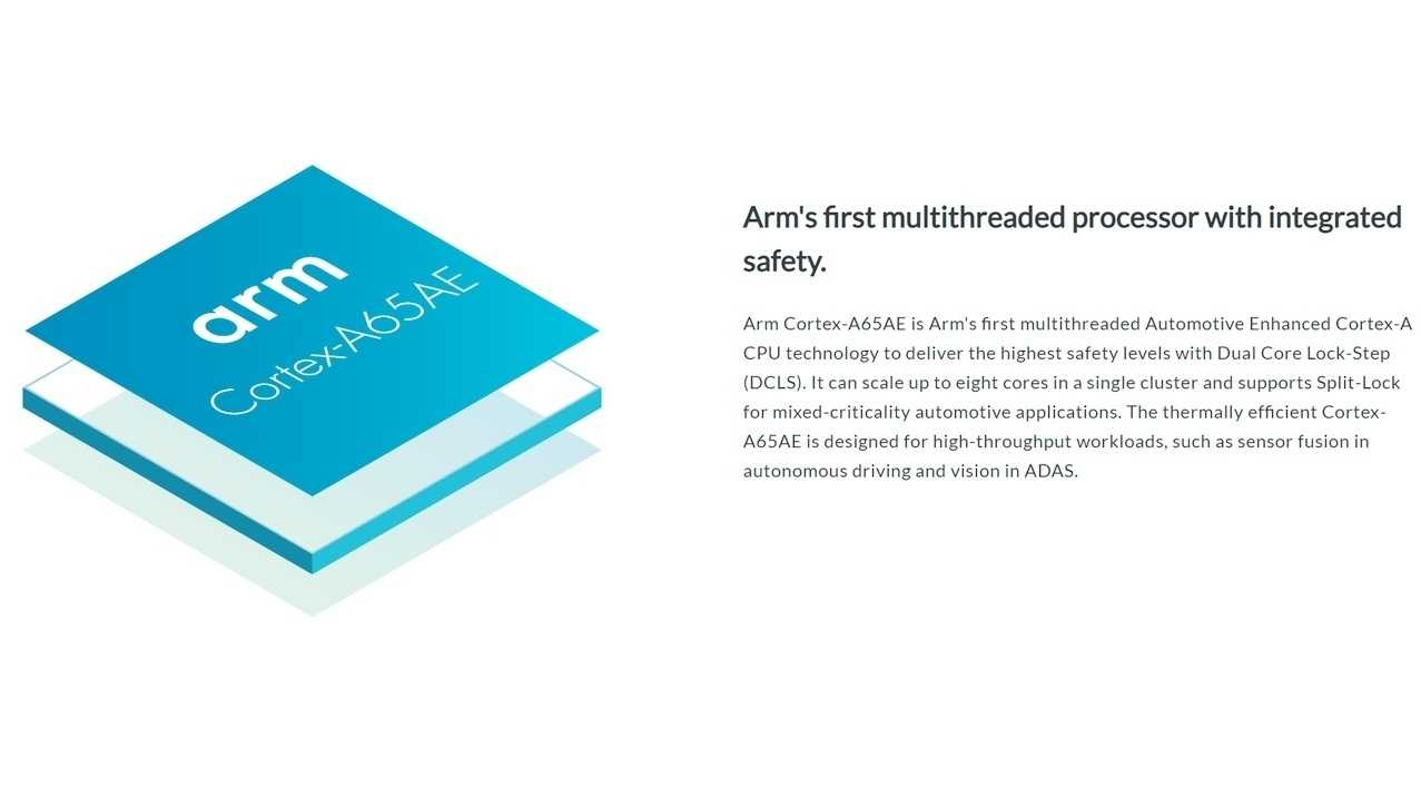 "ARM Cortex-A65AE ""Automotive Enhanced"" mit Simultaneous Multi-Threading (SMT)"