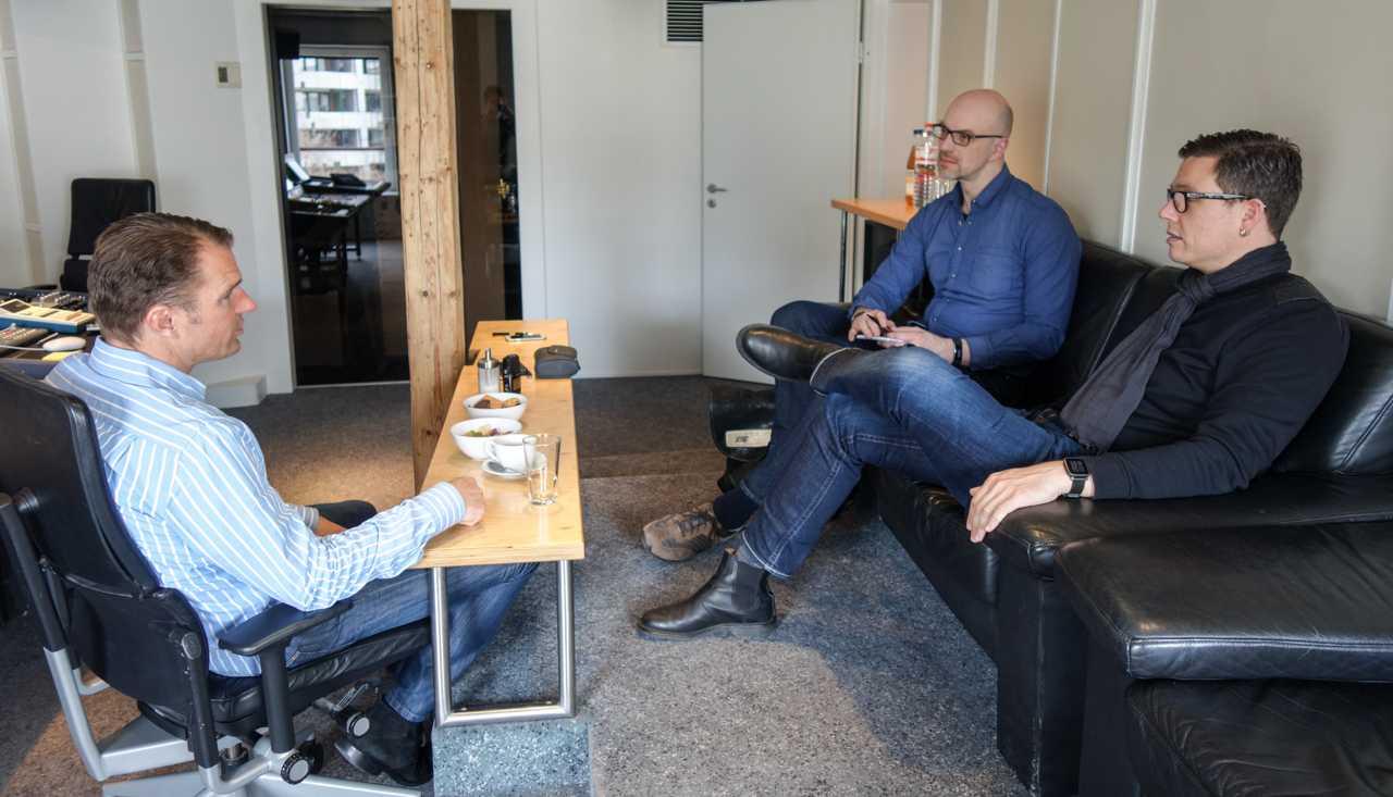 Im Gespräch: Nils Wulkop, Nico Jurran und Christian Bartsch (v.l.n.r.)