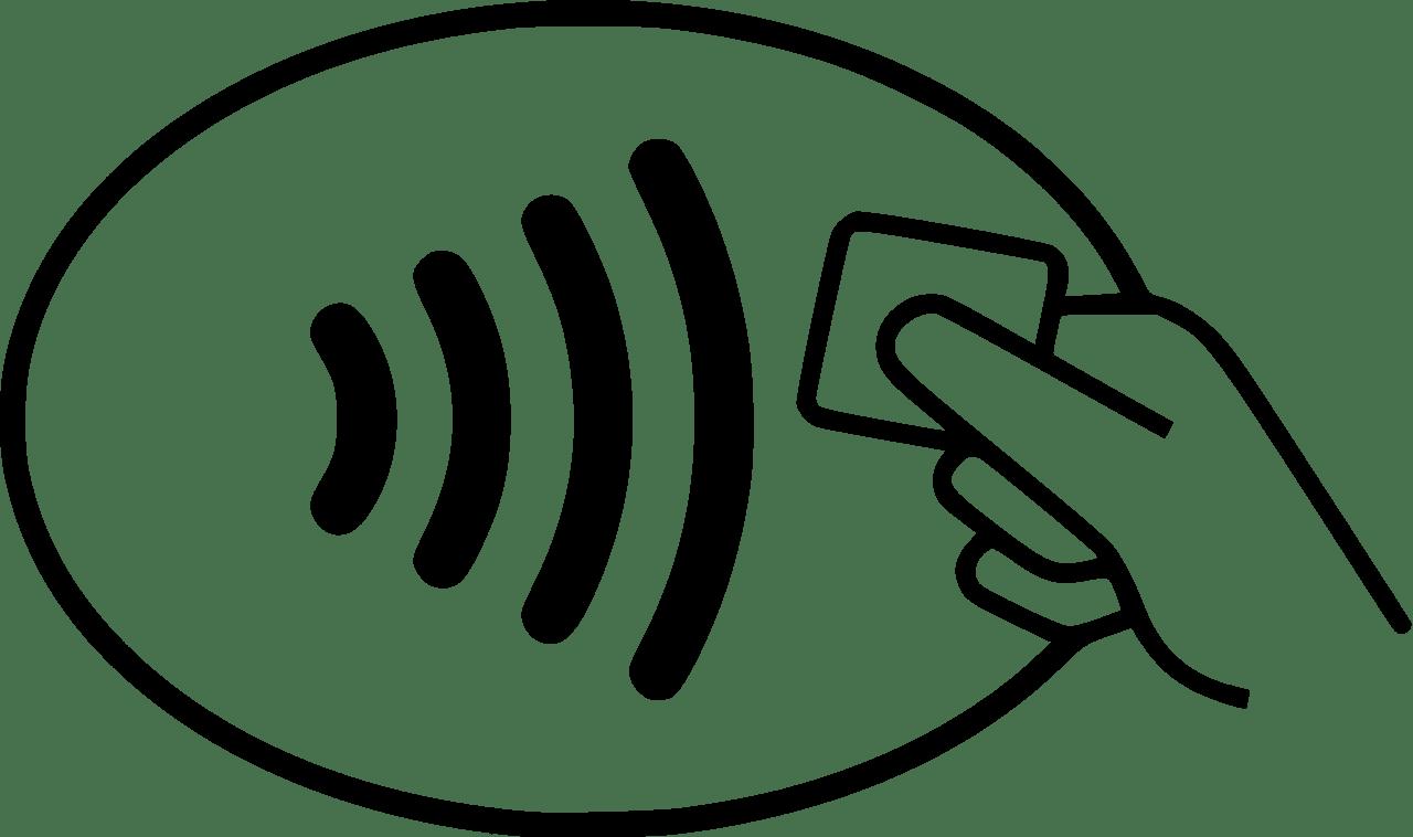 An diesem Logo erkennt man, ob man mit NFC-Wallet-Apps wie Apple Pay, Android Pay und Boon bezahlen kann.