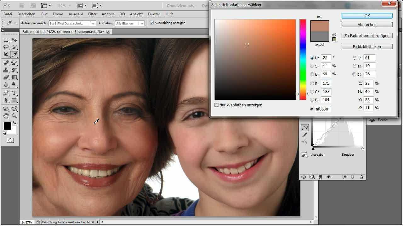 Farbkorrektur: Farbbalance übertragen