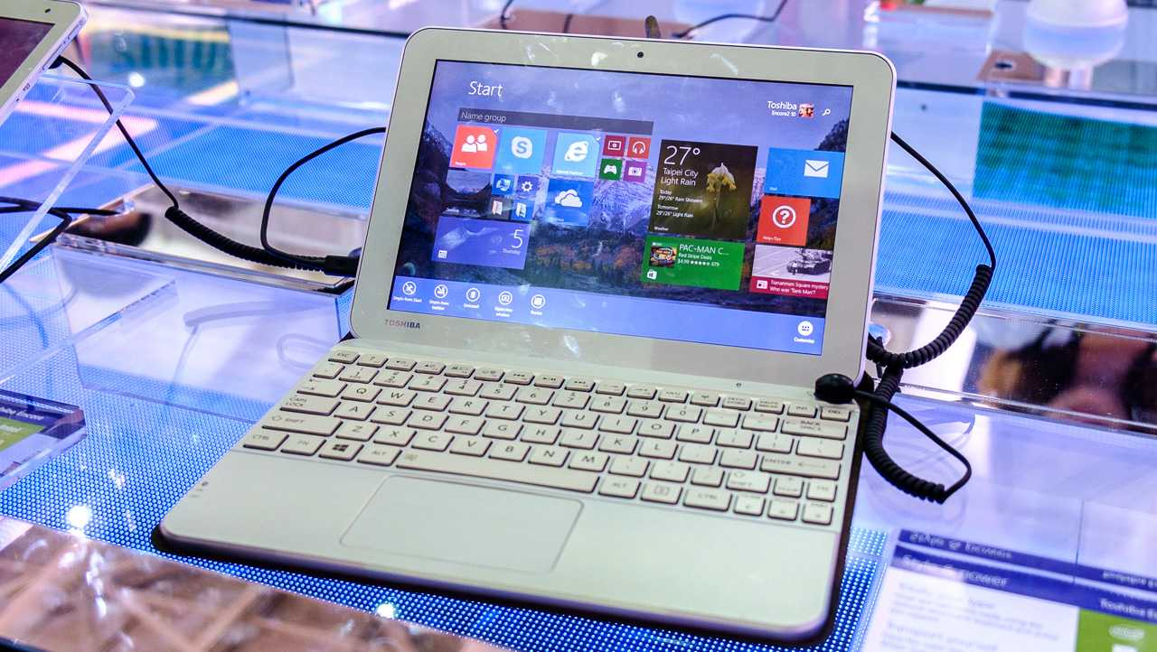Für die 10-Zoll-Version des Encore 2 gibt es eine Bluetooth-Tastatur mit großem Touchpad.