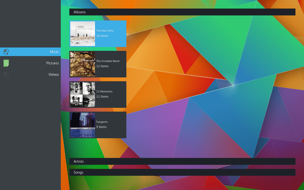 KDE Plasma Media Center