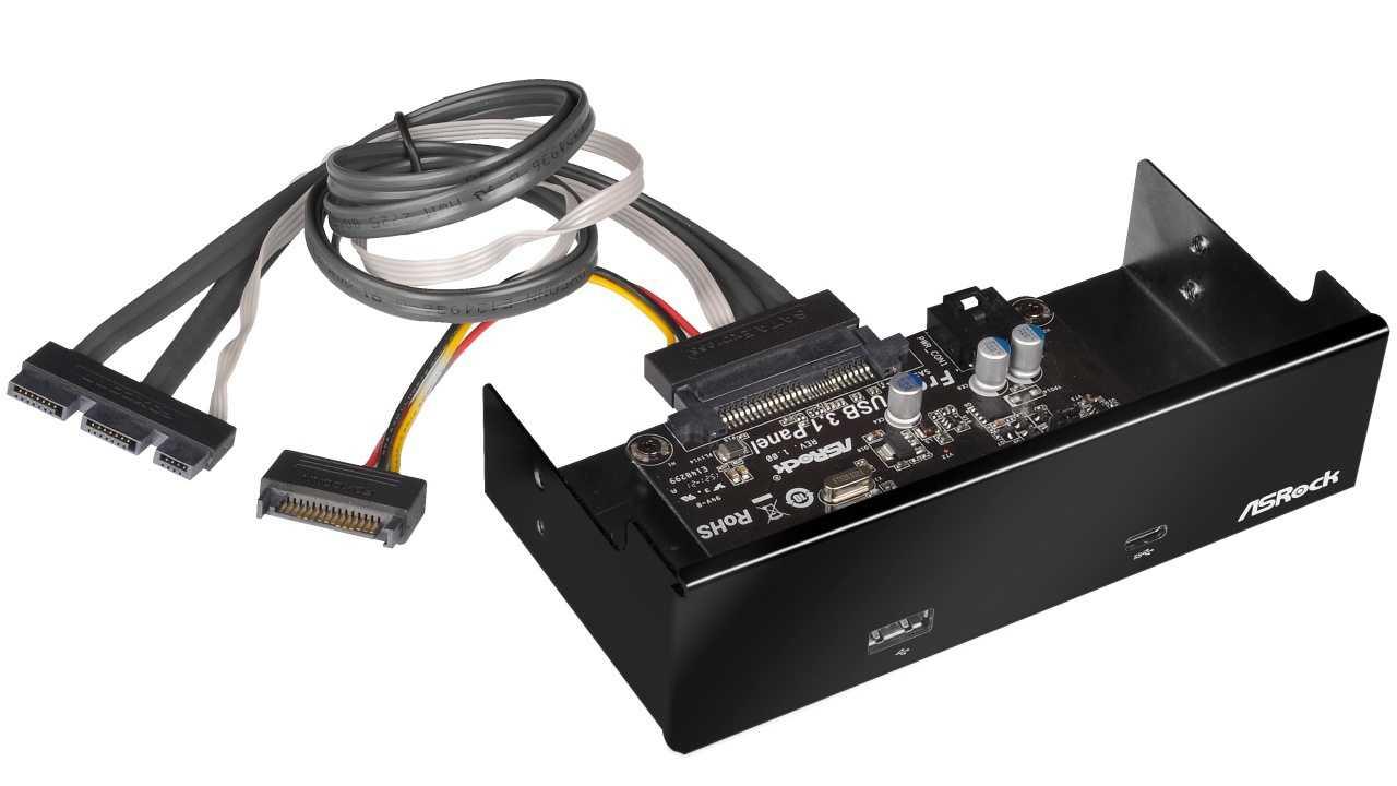 ASRock-Frontpanel mit USB 3.1 Typ C