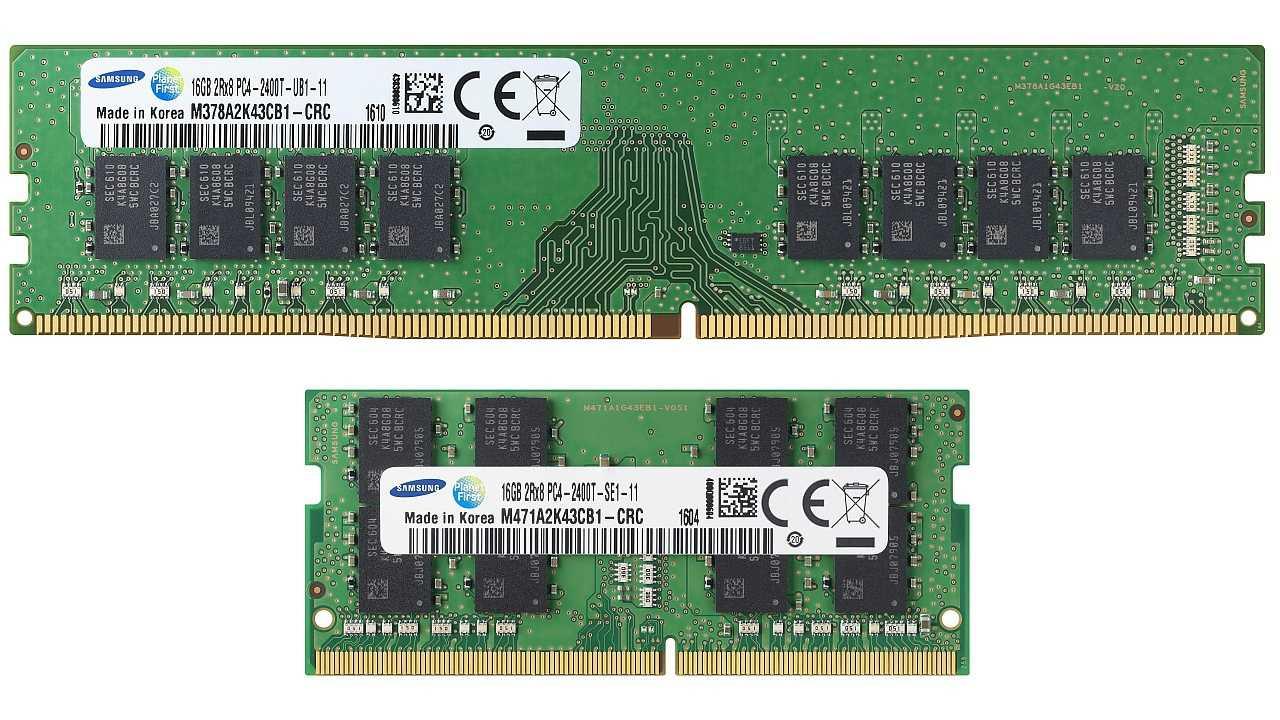 Samsung DDR4-DIMM Memory M378A2K43CB1 M471A2K43CB1 K4A8G085WC
