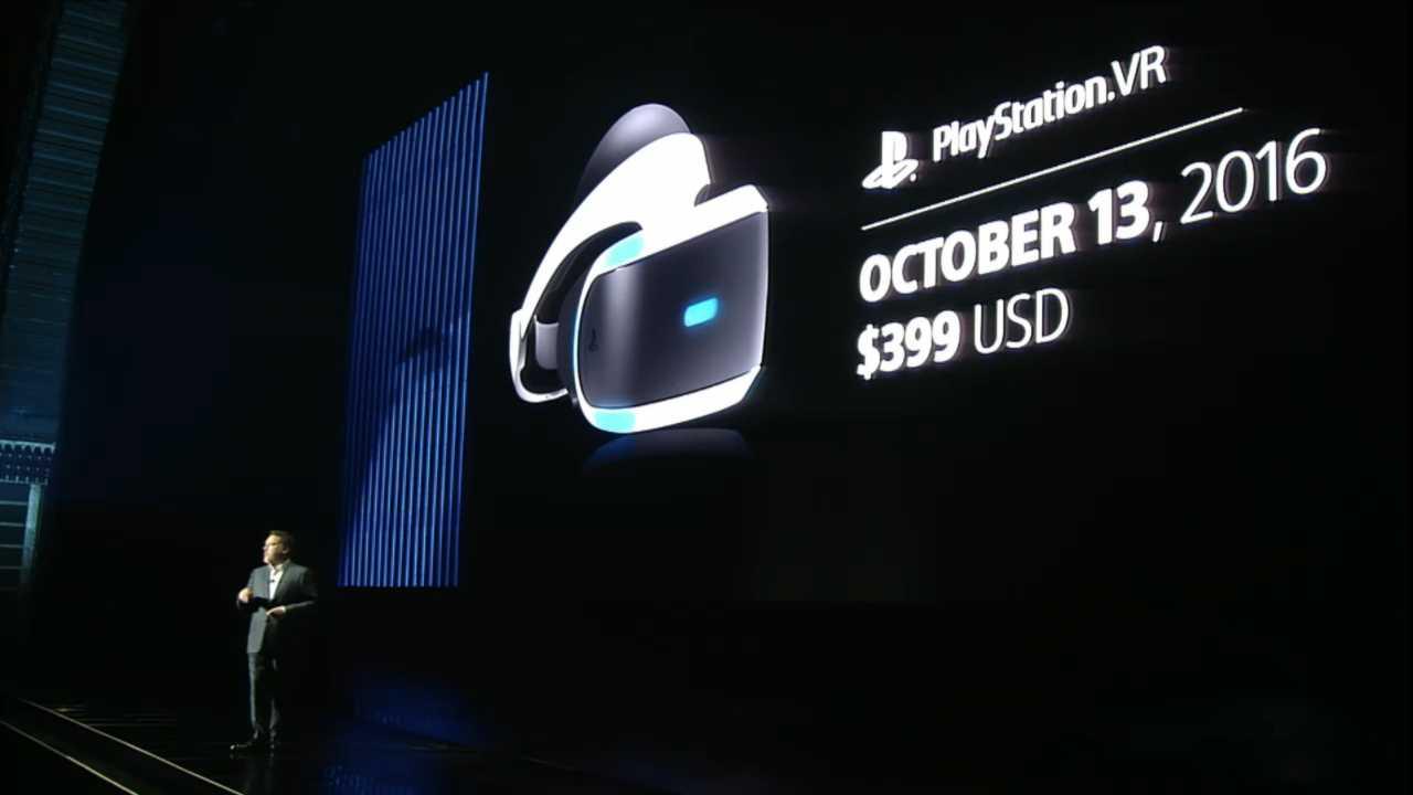 Termin und Spiele-Line-up für Playstation VR