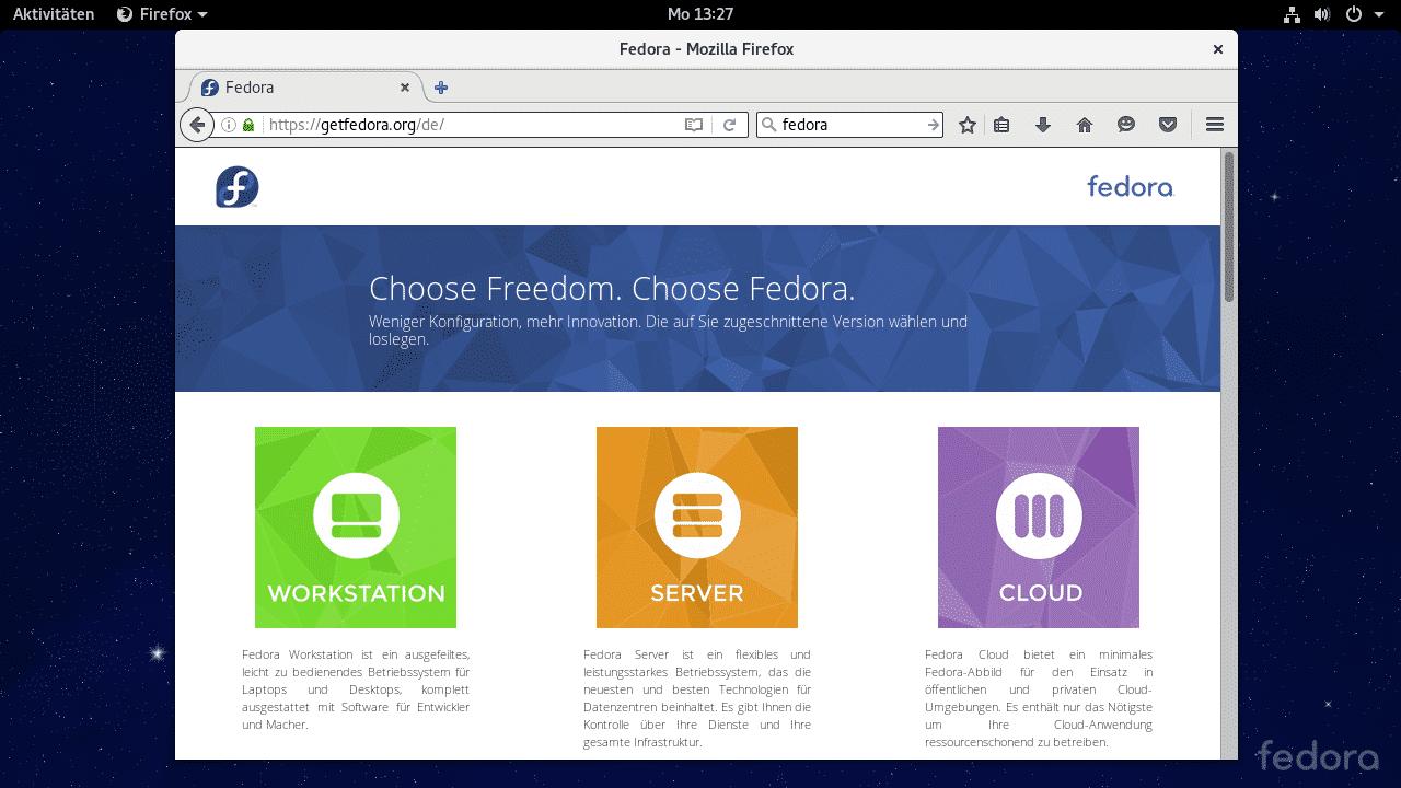 Linux-Distribution Fedora 24 enthält Konkurrenten für Ubuntus Snap