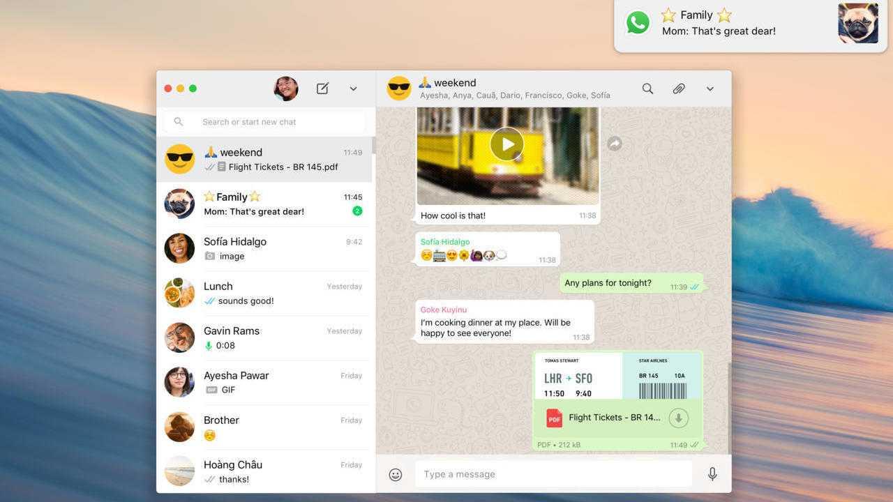 WhatsApp Desktop für Mac