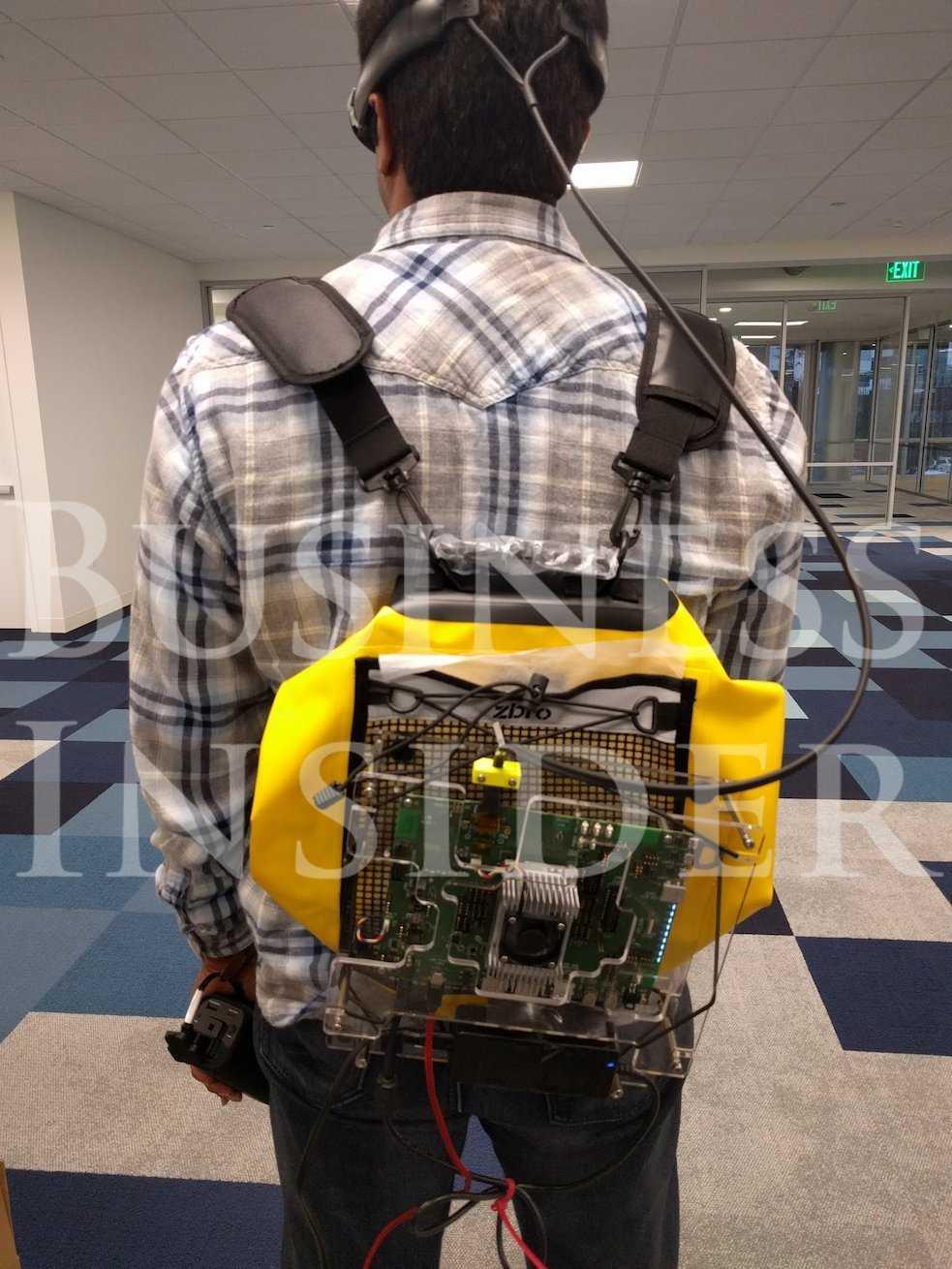 Nackte Technik: So sieht der Prototyp des tragbaren Augmented-Reality-Geräts von Magic Leap aus.