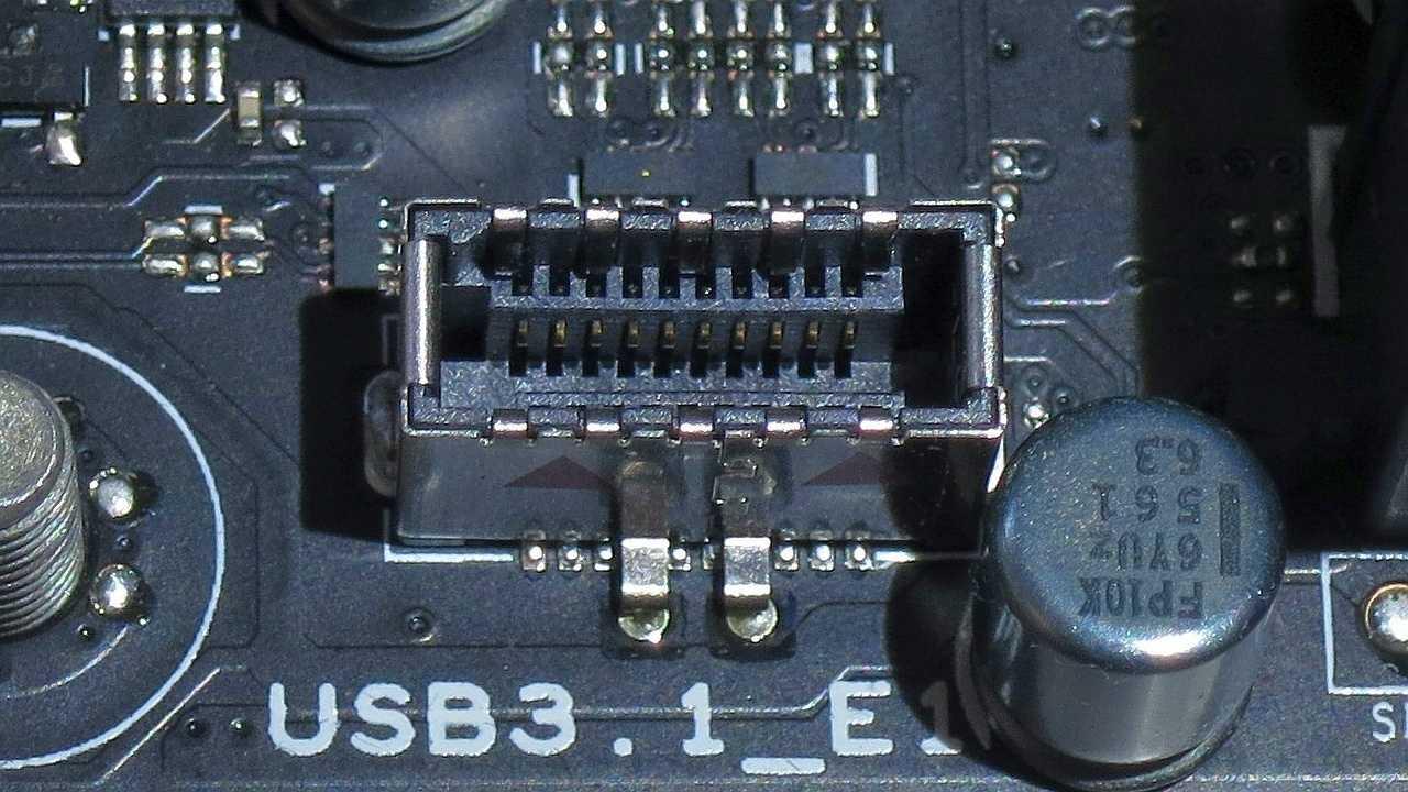 20-polige Mainboard-Buchse für USB 3.1