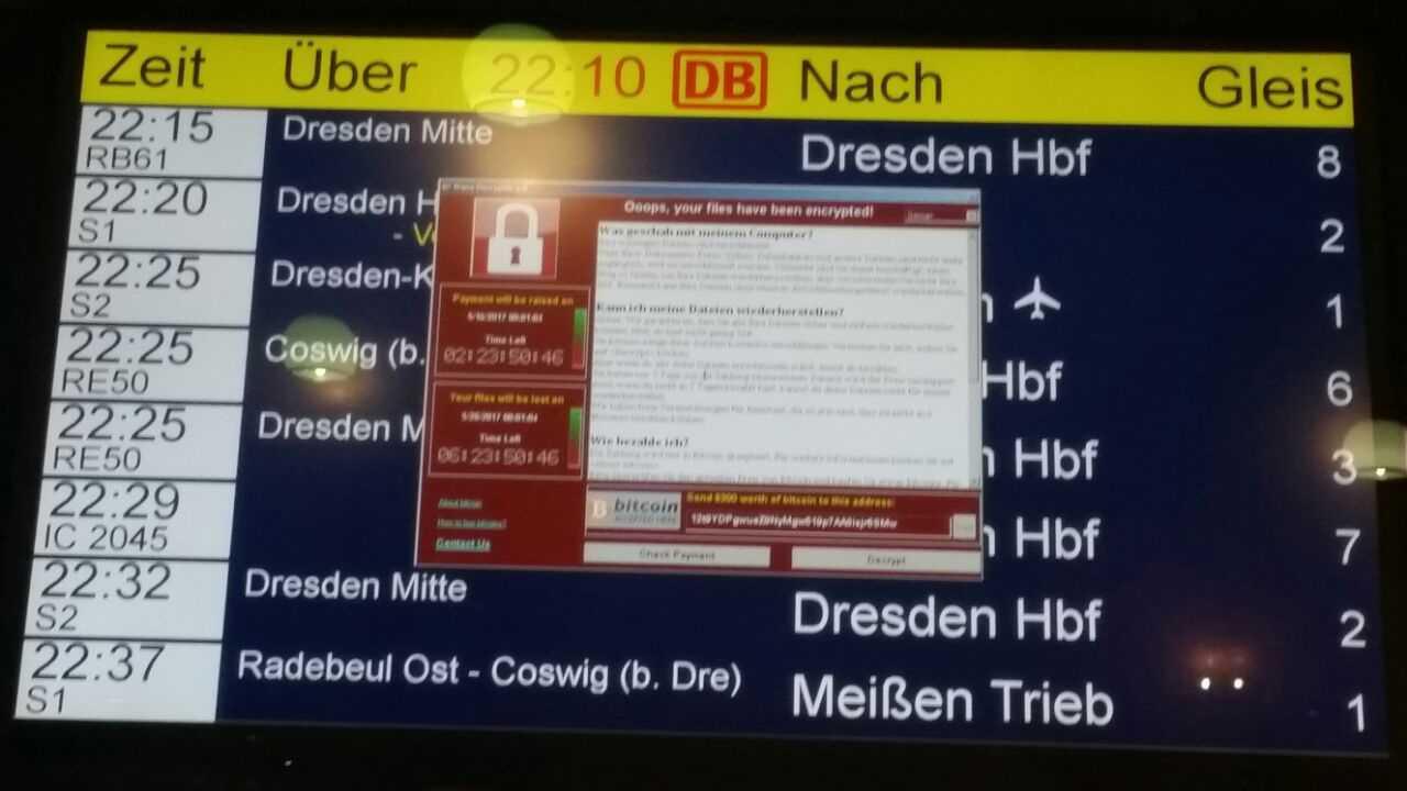 Ransomware WannaCry befällt Rechner der Deutschen Bahn