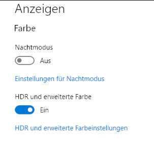 Die HDR-Funktion muss man in Windows 10 zunächst aktivieren.