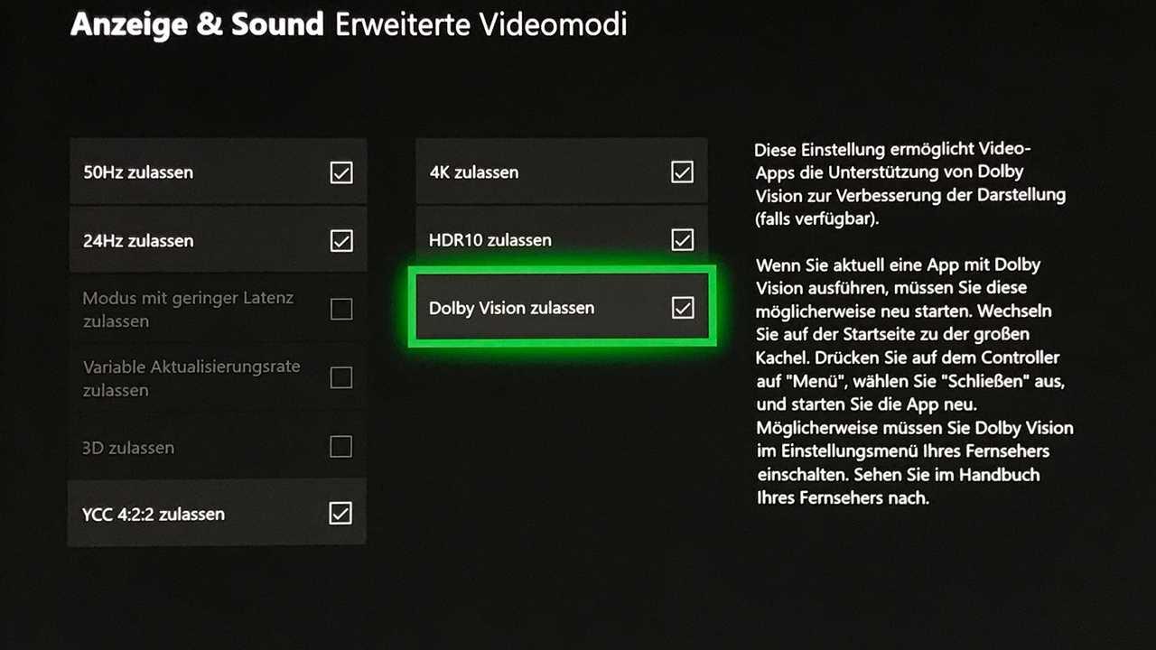Microsoft veröffentlicht Dolby-Vision-Update für Xbox One S und X