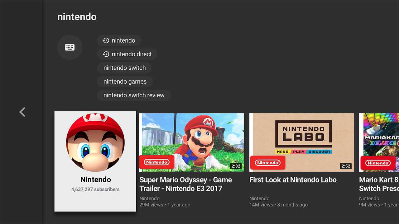 Youtube-App für Nintendo Switch ist da