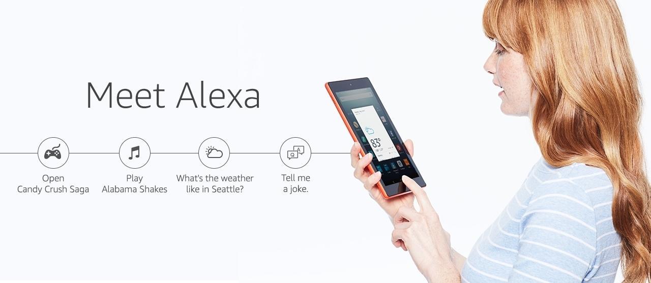 In den USA kann man mit einem Druck auf den Homebutton der Fire-Tablets auf Alexa zugreifen.