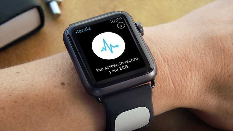 Apple Watch mit Kardia Band