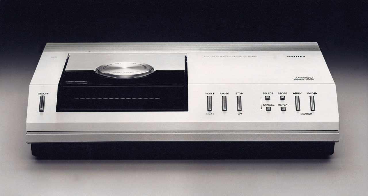 Philips-CD-Player aus den Anfangsjahren des Formats.