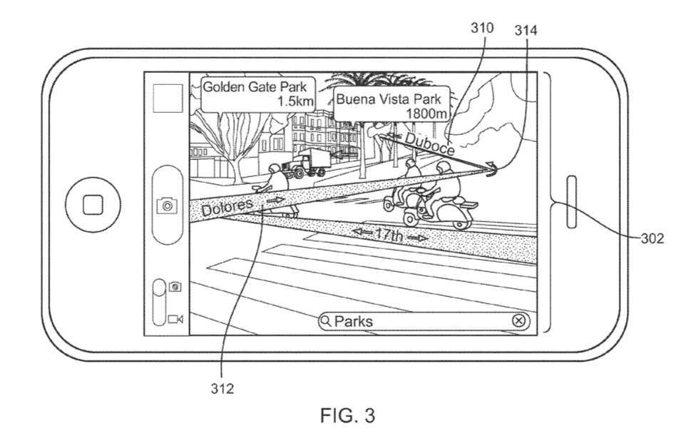 """Apple hält ein Patent für """"Augmented Reality Maps""""."""