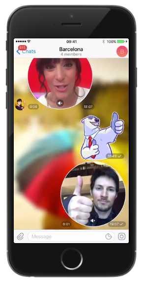 Daumen nach oben: Mit Telegram lassen sich nun auch Videobotschaften verschicken.