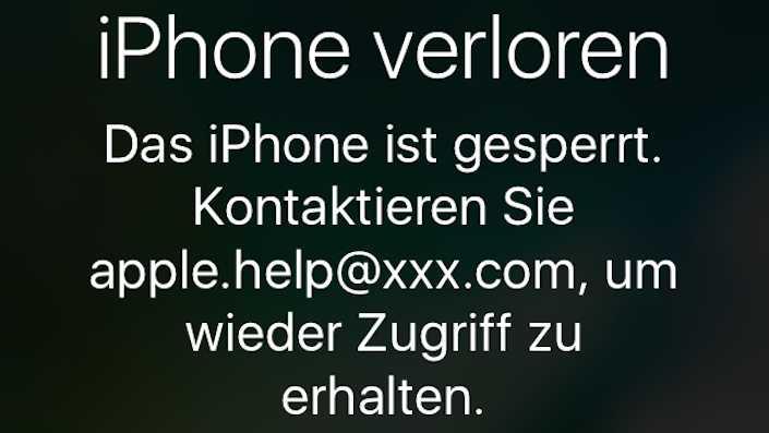 iPhone iCloud-Fernsperung