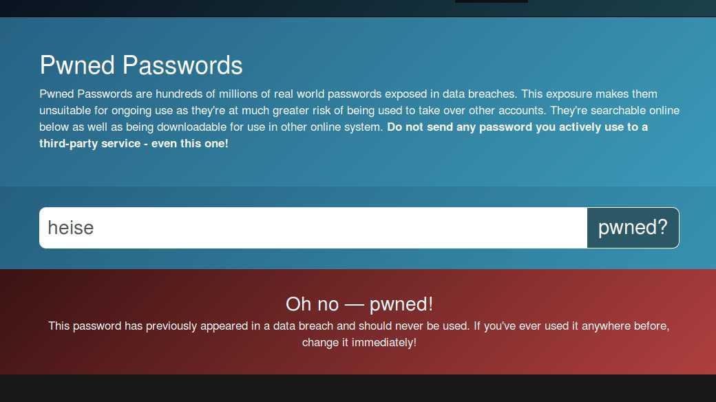 Pwned Passwords: Neuer Dienst macht geknackte Passwörter auffindbar