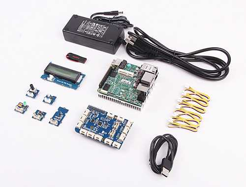 Bauteile des UP2-IoT-Development-Kits