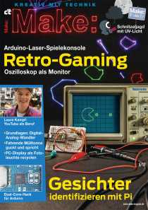 Titelbild der Make 5/17 mit der Arduino Laser Konsole