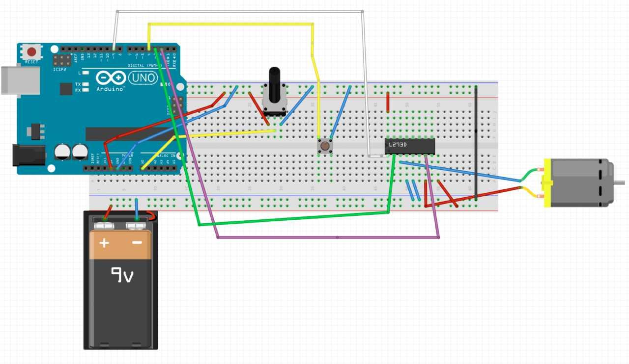 Der L293D dient als Basis für die verbesserte Schaltung