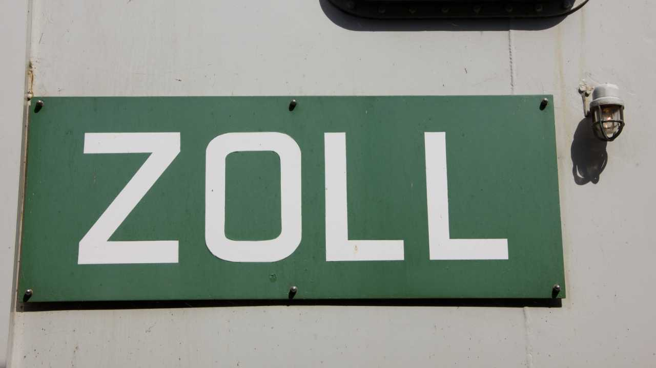 """Schild: """"Zoll"""""""