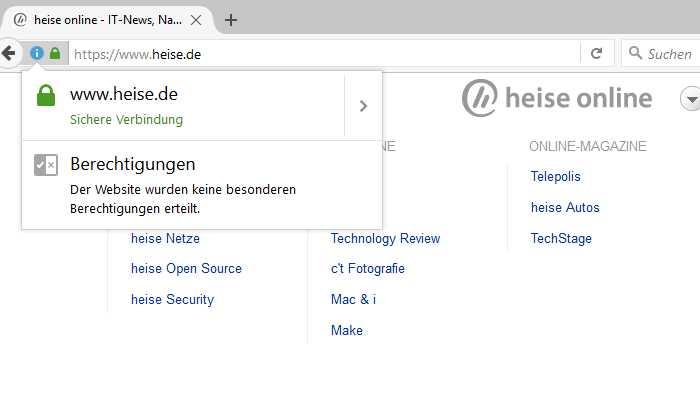 Verschlüsselung: heise online und Heise-Onlinedienste per HTTPS erreichbar