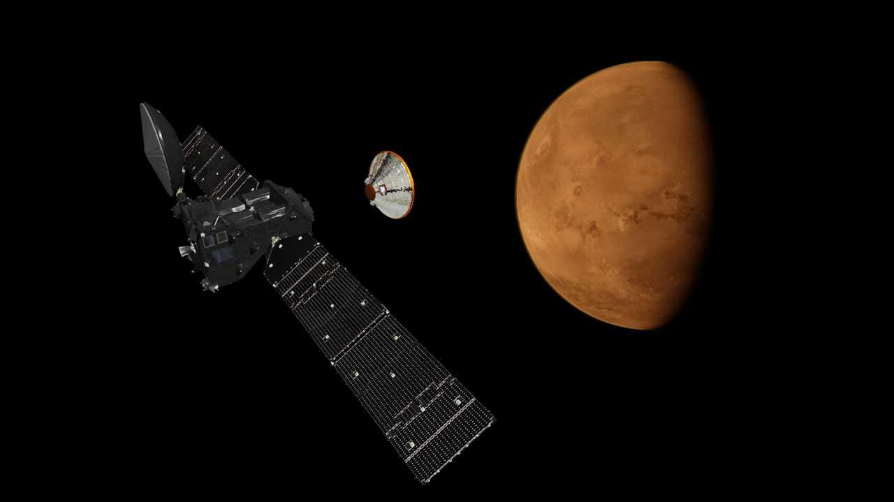 ExoMars vor der Ankunft: Alle Antennen Richtung Mars