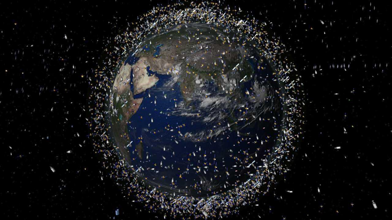 Weltraummüll in der erdnahen Umlaufbahn